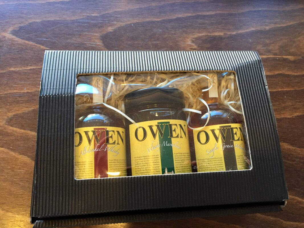 Geschenk-SET - Whisky-Miniaturen, Whisky-Gsälz
