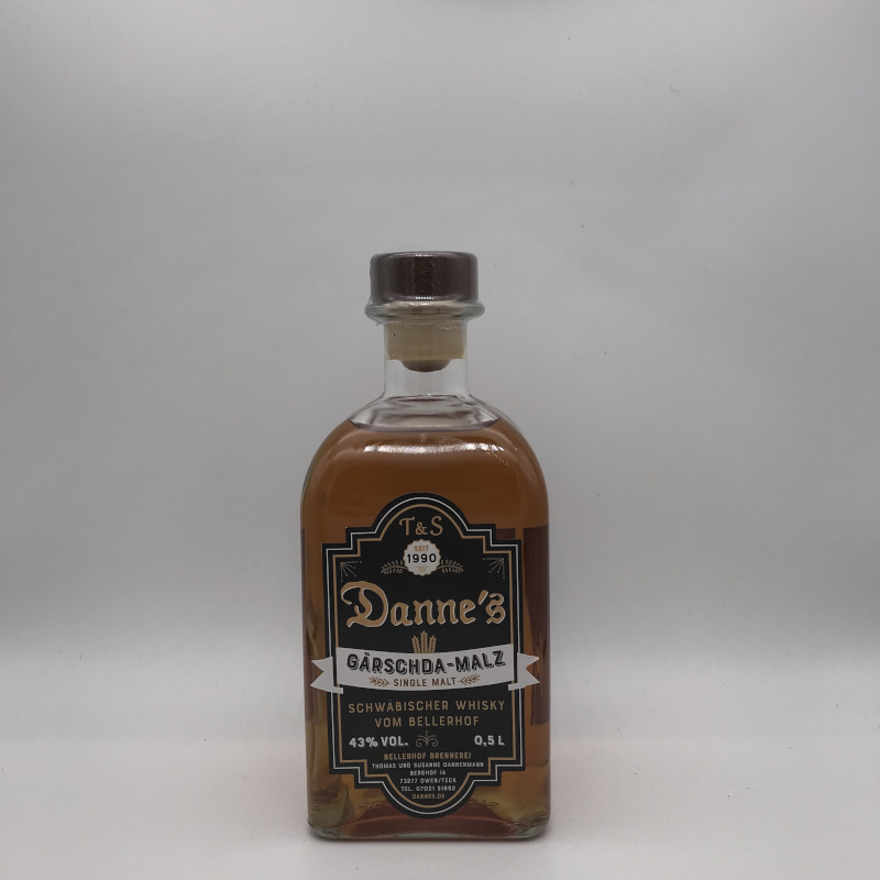 Danne's Single Malt - Gärschdamalz 43% vol.