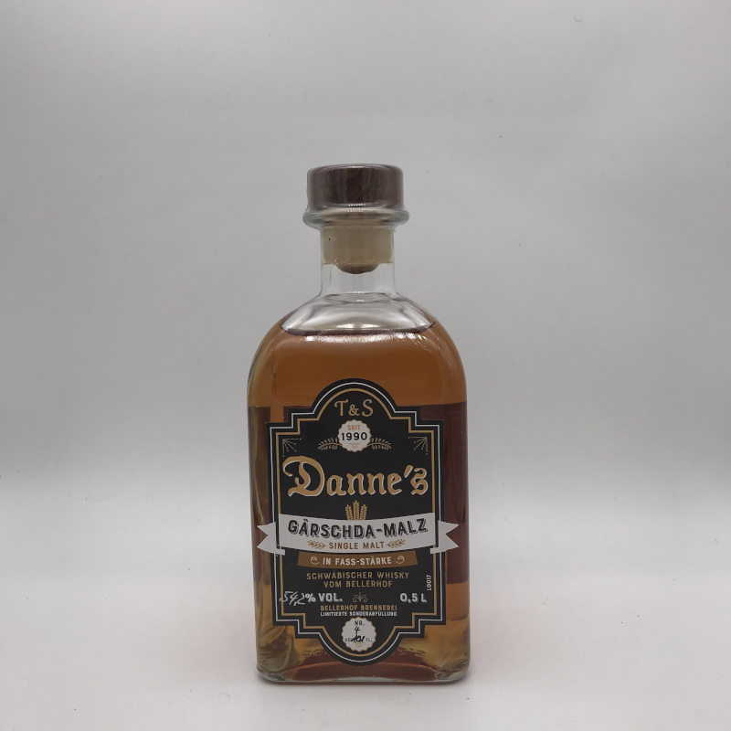 Danne's - Single Grain, FASSSTÄRKE, 51,1% vol. 0,5ltr. Woiza ond Rogga