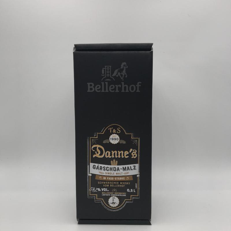 Danne's - Single Malt, FASSSTÄRKE, 54,9% vol. 0,5ltr. Gärschda-Malz