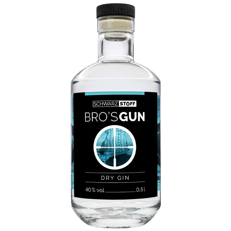 SCHWARZSTOFF BRO'S GUN - Dry Gin, 40% vol - 0,5l
