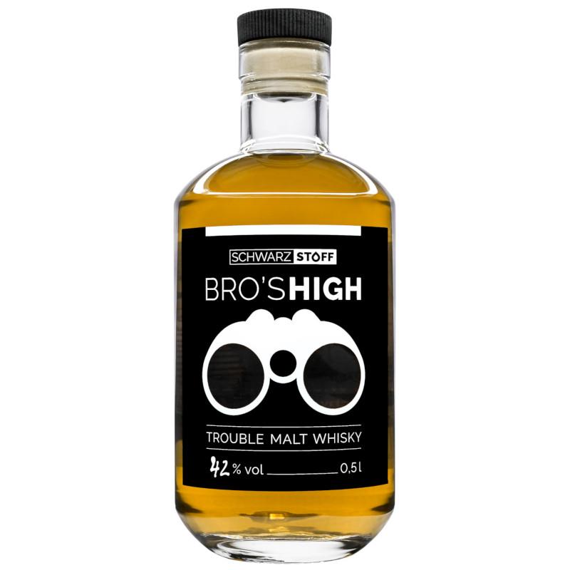 schwarzstoff BRO'S HIGH - Trouble Malt Whisky - BOURBON EDITION, 42 % vol - 0,5 ltr.