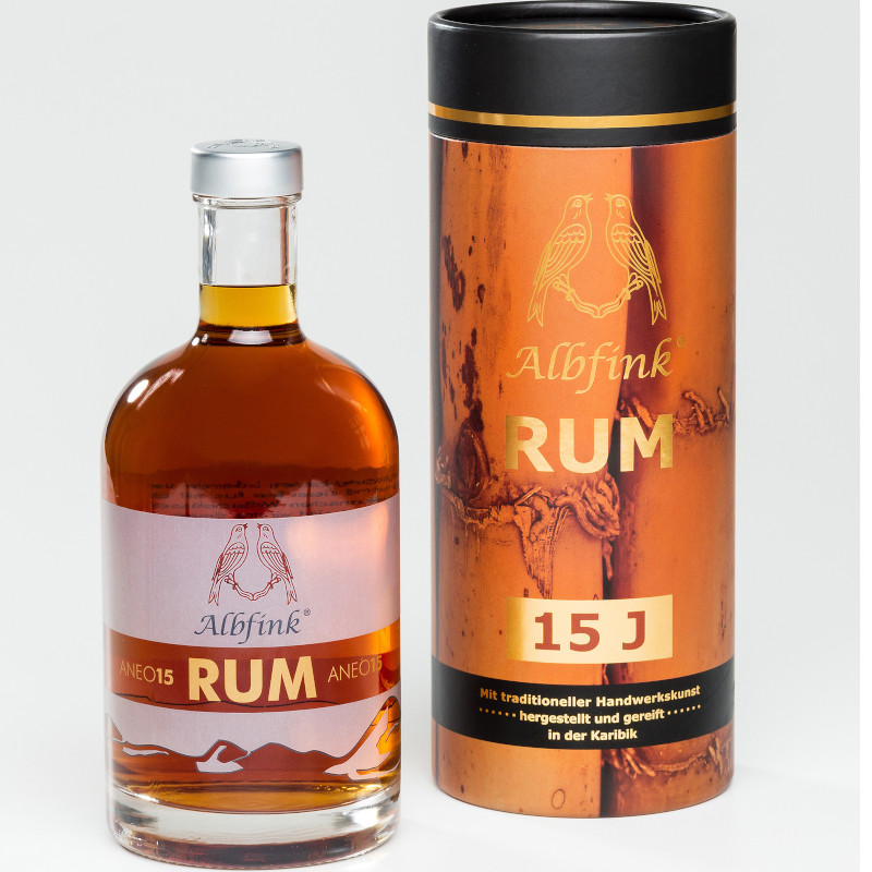 Albfink® RUM ANEO 15, Deutscher Rum - 46% vol. 0,5 ltr.