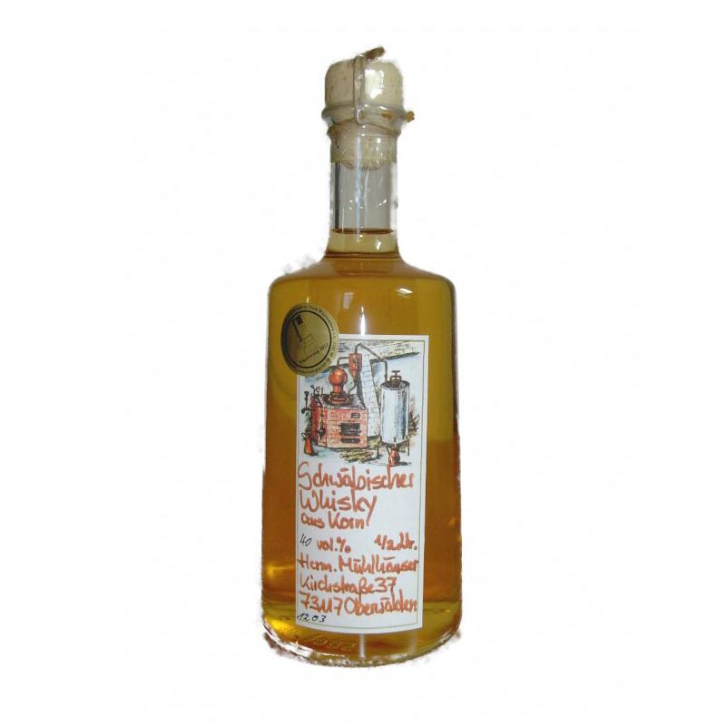 Schwäbischer Whisky aus Oberwälden - Single Grain, 40% vol. 0,5ltr.
