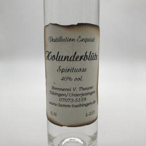 Holunderbluetengeist-0.1l-Etikett