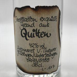Quittenbrand-0.35l-Etikett