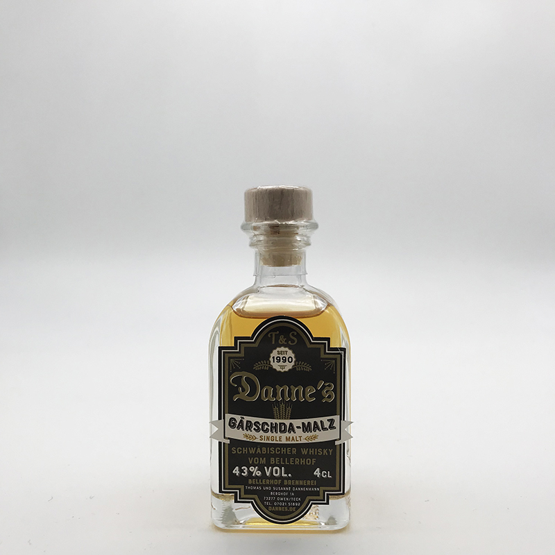 Danne's - Single Malt, 43% vol. - 0,04ltr. Gärschda-Malz