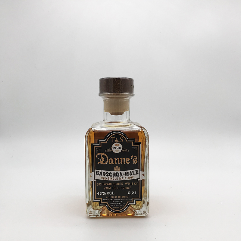 Danne's - Single Malt, 0,2ltr. 43% vol. Gärschda-Malz