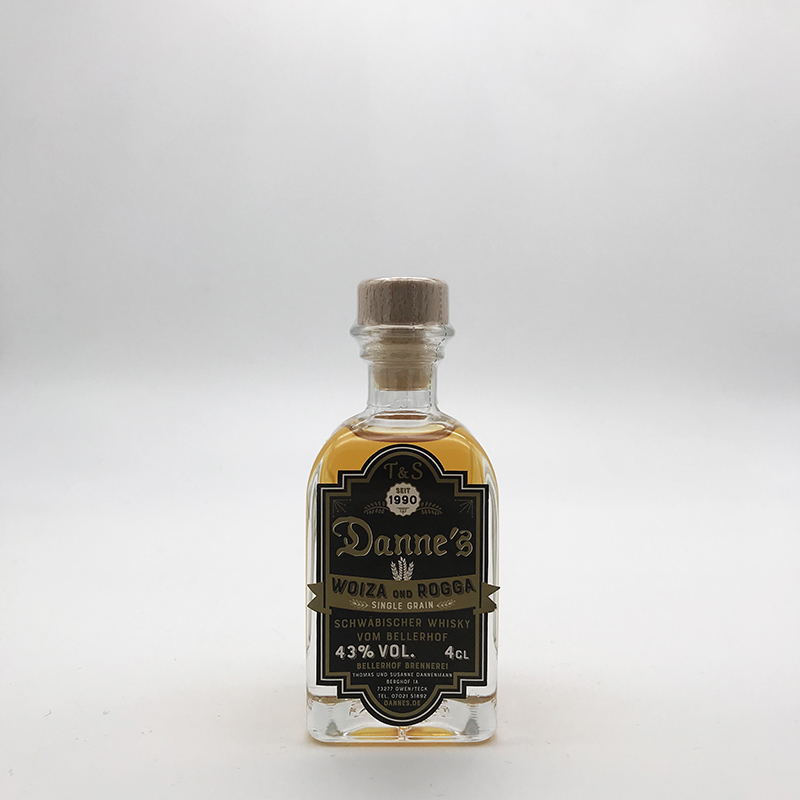 Danne's - Single Grain - Woiza ond Rogga 43% vol. - Miniatur 0,04ltr.