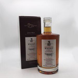 Brennerei-Gruener-Baum-Smurf-Emmer-Whisky-Flasche-mit-Verpackung