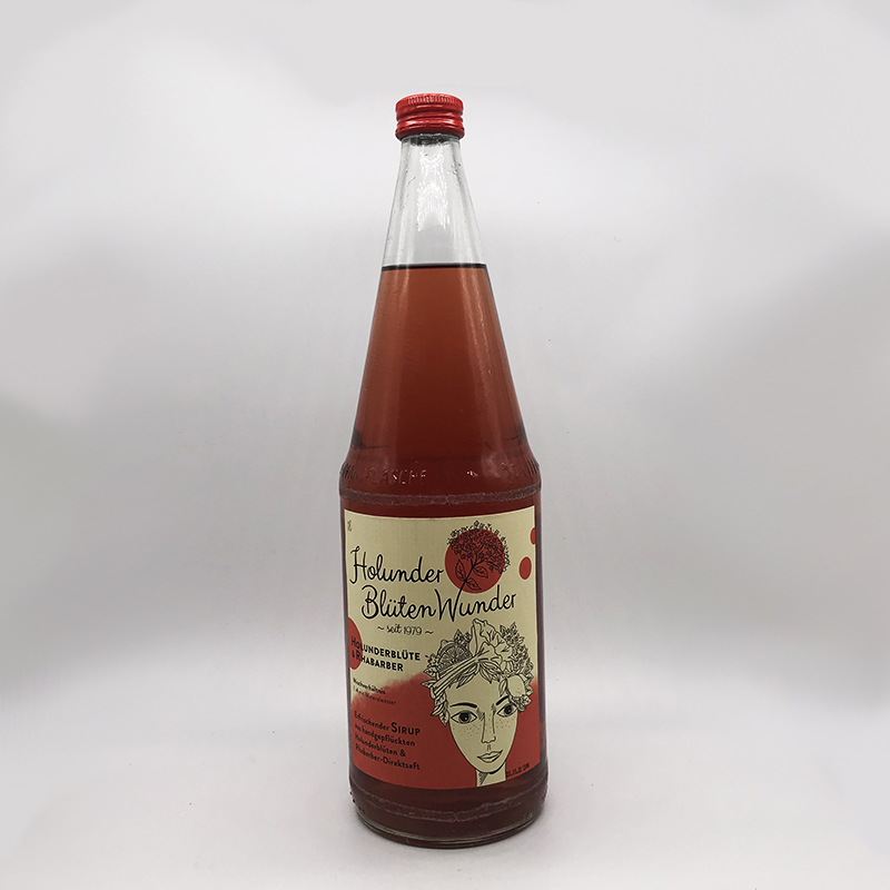 Rhabarber-Holunderblütenwunder 1 Liter - inkls. 15 Cent PFAND
