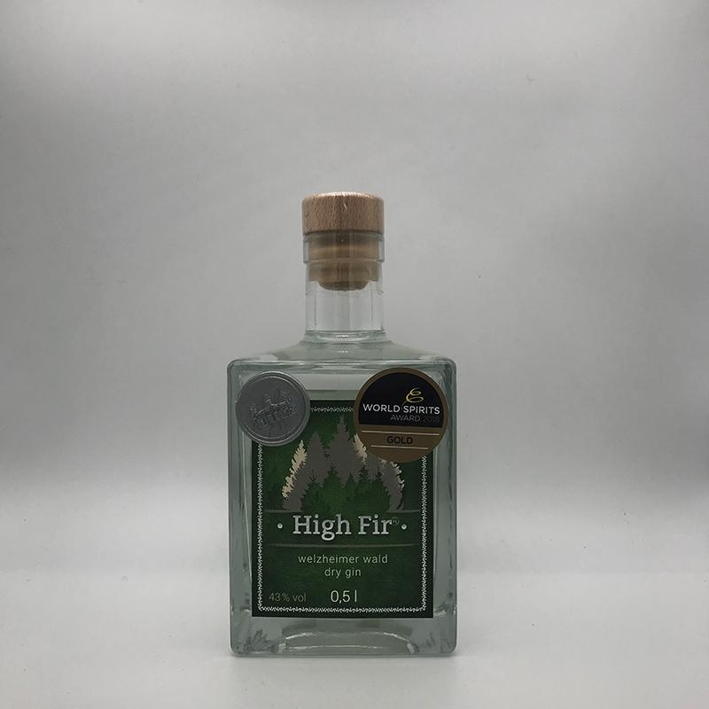 High Fir Welzheimer Wald Dry Gin Classic 43 % vol. 0,1 ltr