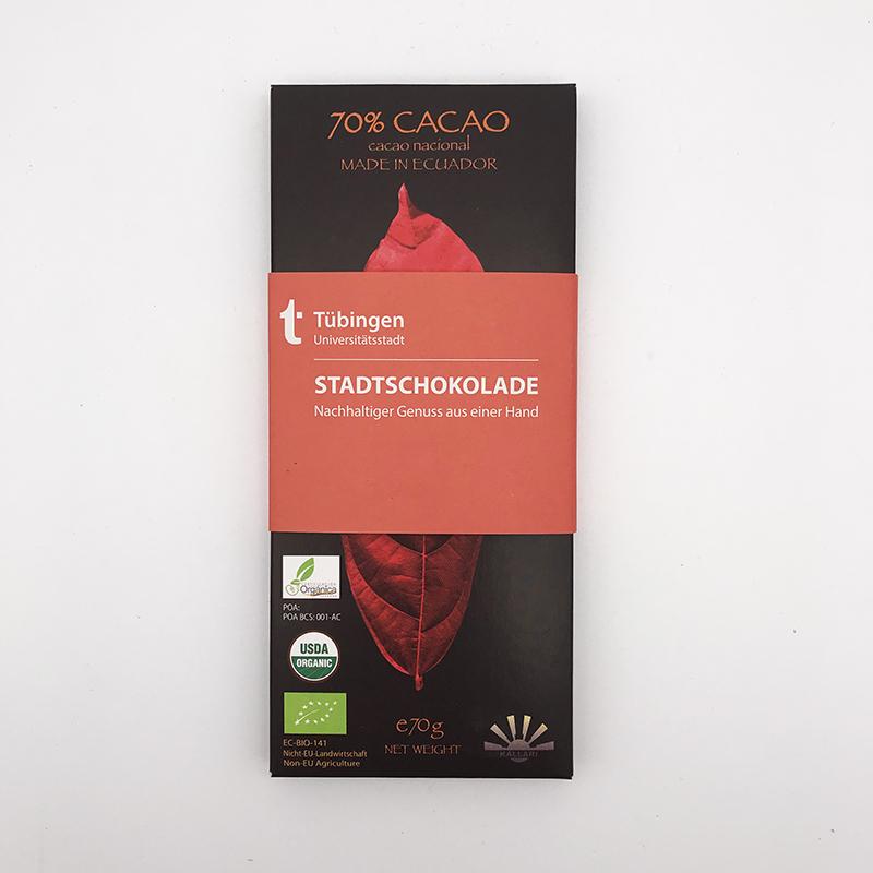 Kallari - Tübinger Stadtschokolade, Tafel 70g, Fairtrade