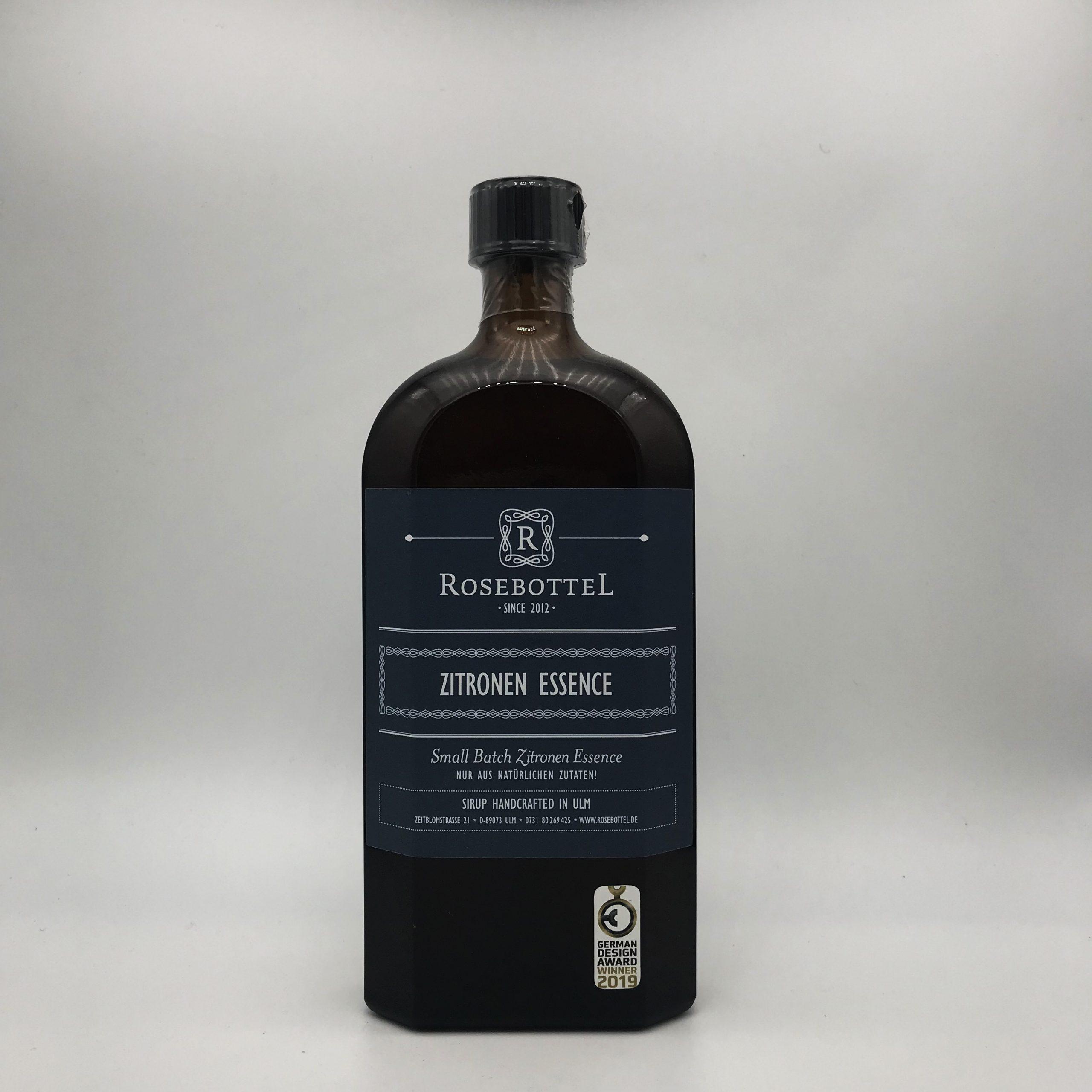 ROSEBOTTEL Zitronen Essence, 0,5 ltr.