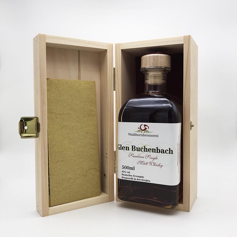 Glen Buchenbach Sherry Single Malt Whisky, 43% vol. 0,5ltr. in Holzschatulle