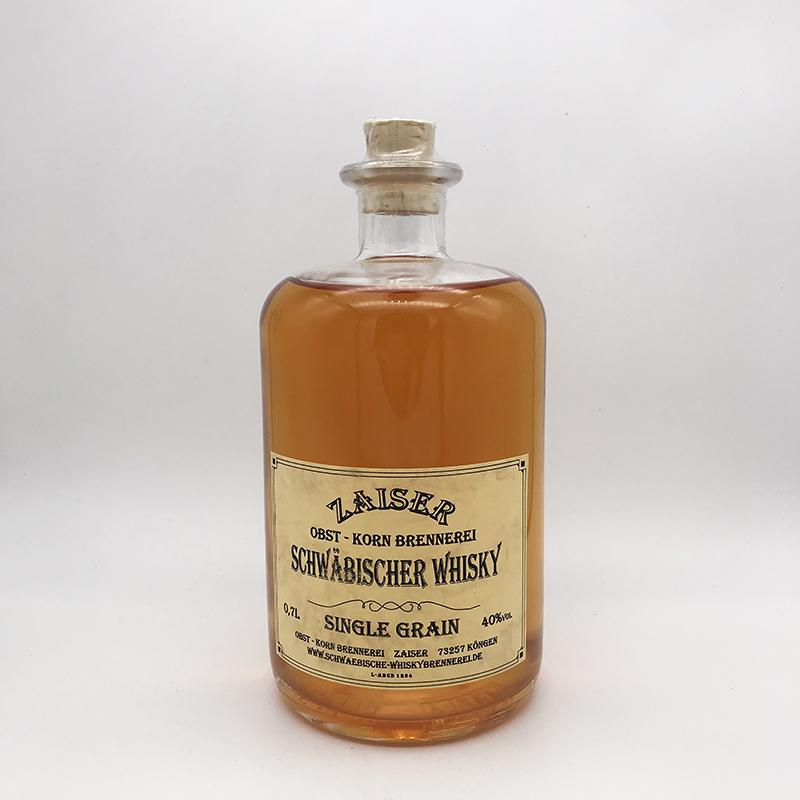 Zaiser Schwäbischer Whisky, Single Grain, 40% vol. 0,5ltr.