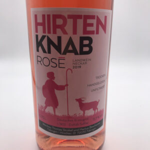 Weinbau-Strobel-Beschorner-Hirtenknab-Roséwein-Etikett