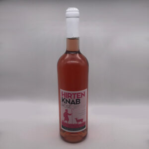 Weinbau-Strobel-Beschorner-Hirtenknab-Roséwein-Flasche
