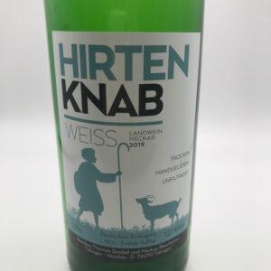 Weinbau-Strobel-Beschorner-Hirtenknab-Weißwein-Etikett