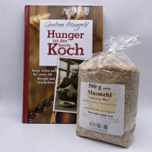 Set-Musmehl-und-Buch-Hunger-ist-der-beste-Koch