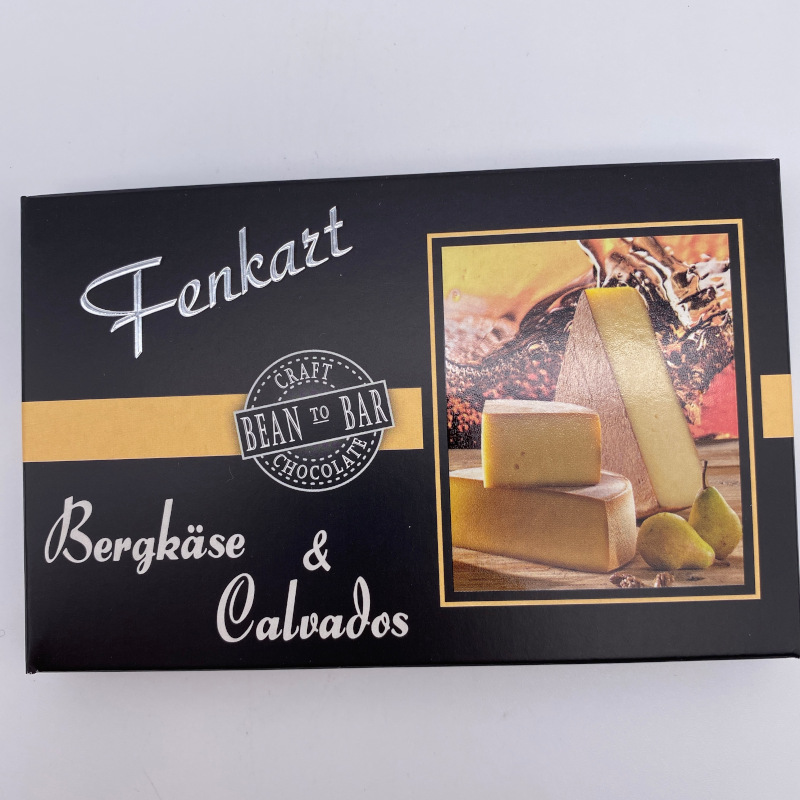 Bergkäse und Calvados Schokolade, Tafel 80g, Fenkart