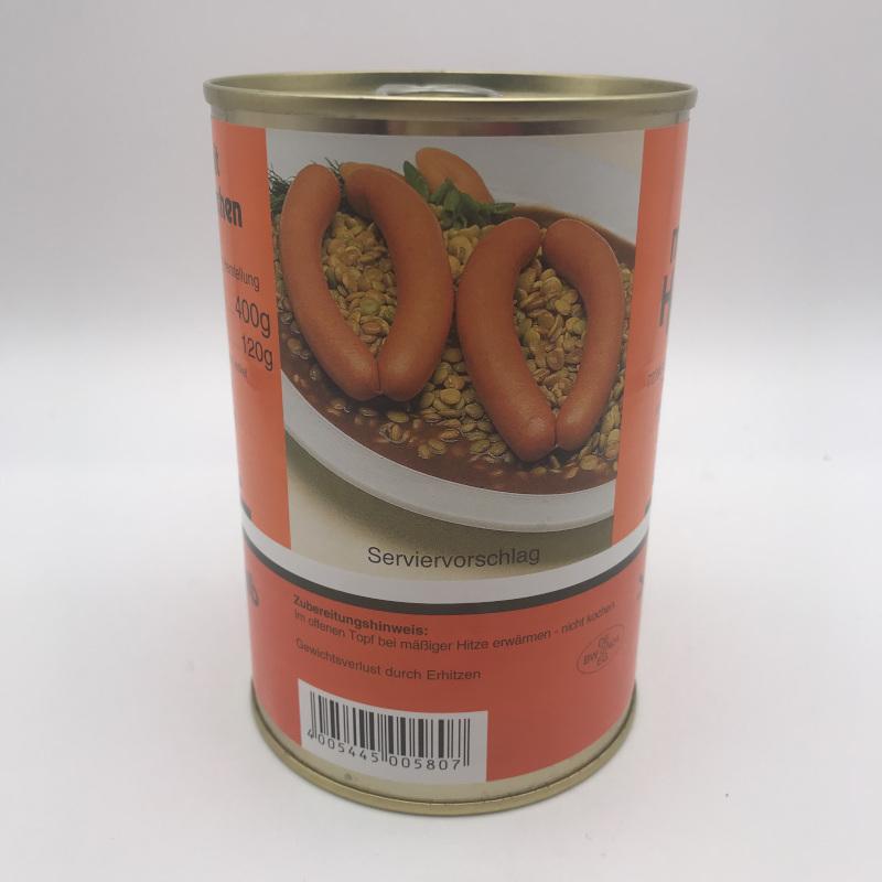 Schwäbische Linsen mit Saitenwürstchen - 400g Dose