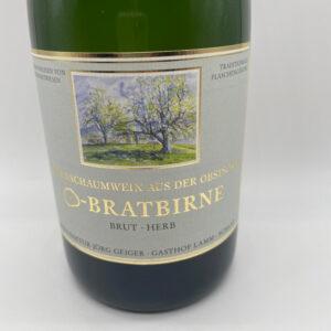 Birnenschaumwein-Champagnerbratbirne-brut-herb-Etikett