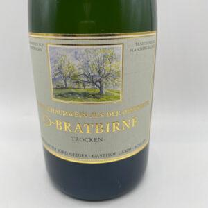 Birnenschaumwein-Champagnerbratbirne-trocken-Etikett