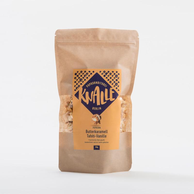 KNALLE Popcorn – Butterkaramell und Tahiti-Vanille, 50g