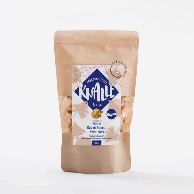 KNALLE Popcorn – Ras el Hanout Haselnuss (vegan), 50g