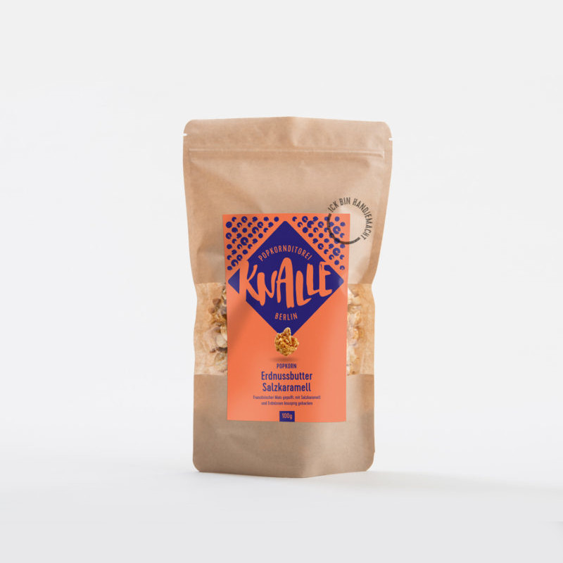 KNALLE Popcorn – Erdnussbutter Salzkaramell, 50g