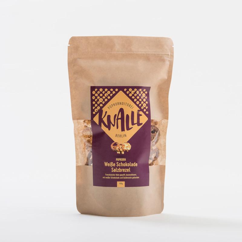 KNALLE Popcorn – Weiße Schokolade Salzbrezel, 50g
